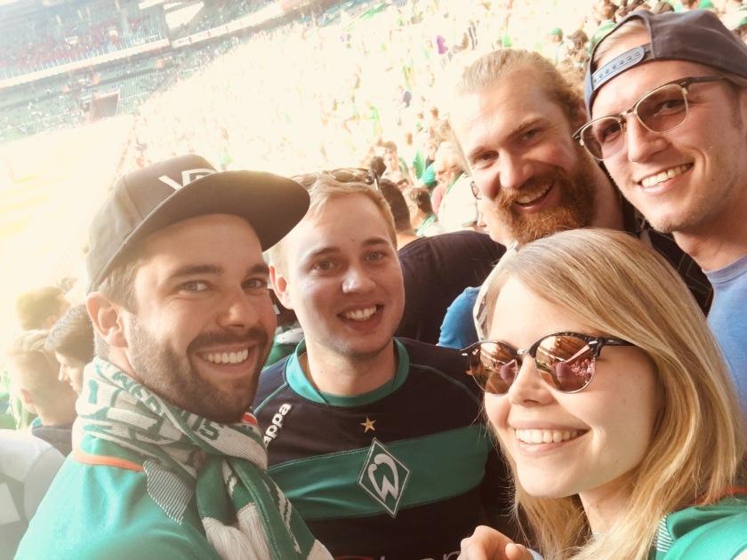 Fünf Freunde im Weserstadion