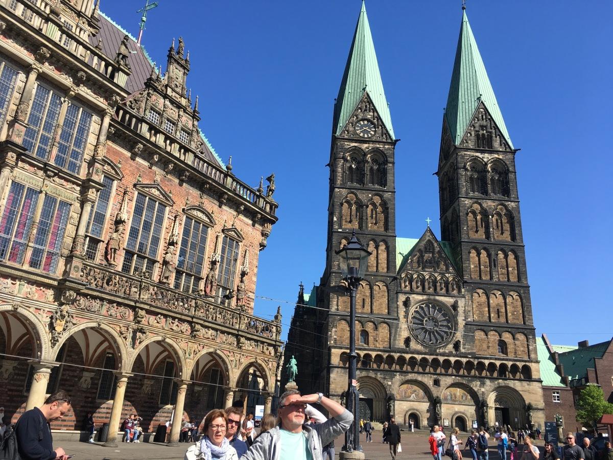 Blick auf das Bremer Rathaus und den Bremer Dom