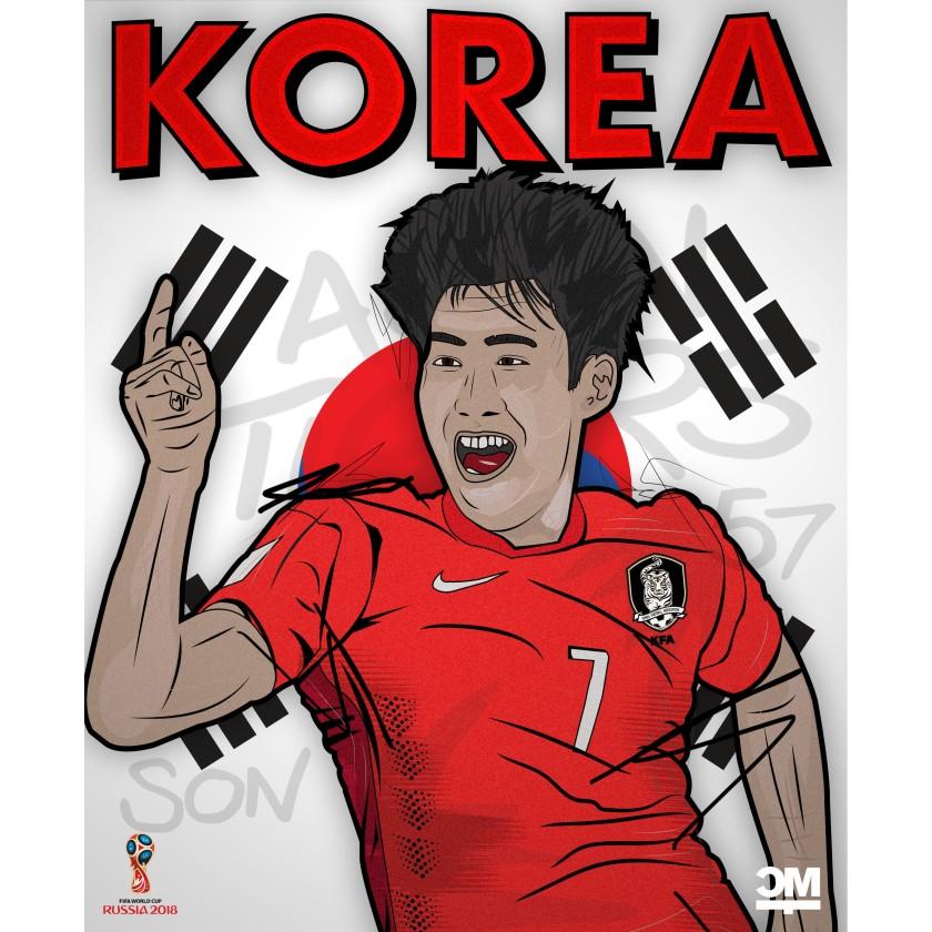 Illustration des Südkoreanischen Spielers Heung-min Son