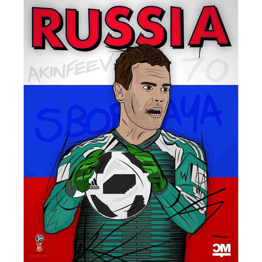 Eine Illustration des russischen Keepers