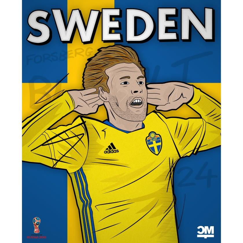 Illustration des schwedischen Spielers Forsberg