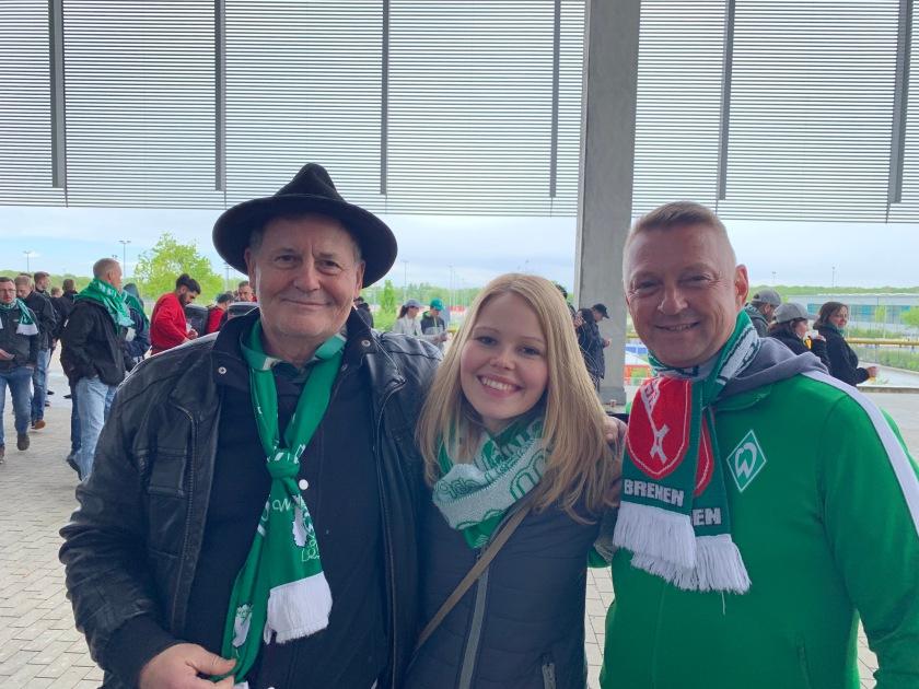 3 Werderfans vor dem Spiel